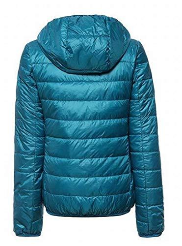 Hooded Women Blue Up Zip Packable Lake MU2M Light Jacket Slim Weight Puffer Down wE7TYqdY