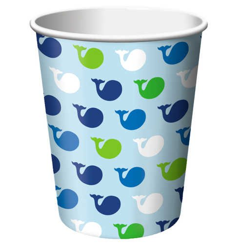 (8-Count 9-Ounce Hot/Cold Beverage Cups, Ocean Preppy Boy )