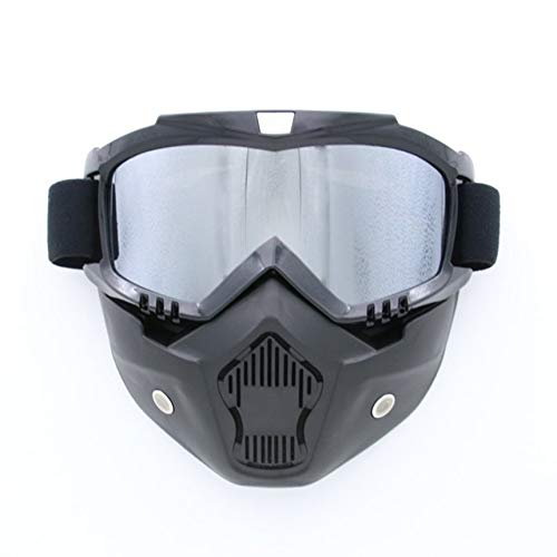 Completely Framed Mask Skiing Glasses Cycling Goggles For Outdoor Sports silver ()