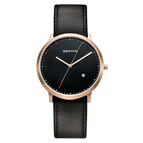 BERING Time 11139-462 Classic Collection Watch with Calfskin Band and scratch resistant sapphire crystal. Designed in Denmark. by Bering (Image #7)
