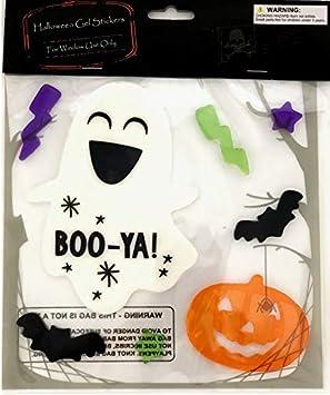 Halloween Decoración Fiesta Gel Ventana Pegatinas Varios Diseños Araña Bruja Boo
