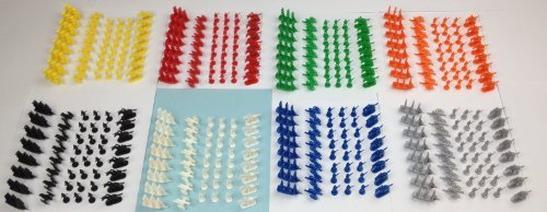 Napoleonic & Civil War Military Miniatures (Set of Eight Colors): Plastic Toy Soldiers Set: Infantry, Cavalry, Artillery, ()