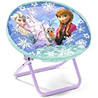 Disney Frozen Saucer Childrens Folding 81 Lb Chair Fun Character Design 100 Percent Polyester, Sturdy Metal Frame, Blue