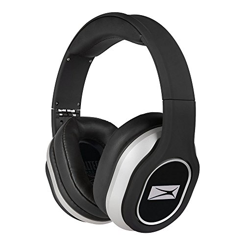 Altec Lansing MZX656-BLK Over Ear Foldable Headphones with Mic, Black