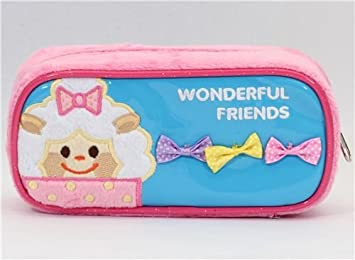 Gracioso estuche peluche rosa animalitos Wonderful Friends: Amazon ...