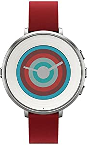 Pebble Technology Corp Smartwatch for iPhone/Android Smartphone - Silver/red