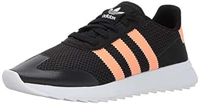 adidas Originals Women's FLB W Sneaker, Black/Flash Orange/Utility Black, 5 Medium US