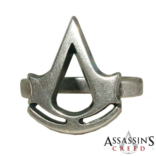 Deluxe Adult Costumes - Assassin's Creed Crest Metal Logo Ring 21 mm.