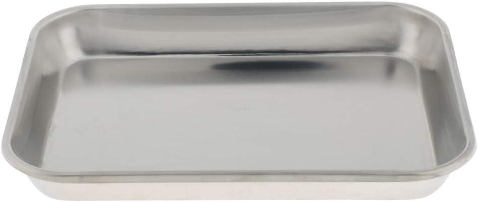 40CM Argent SM SunniMix Porte-Outil en Acier Inoxydable Plateau Service Rectangulaire Durable Compacte