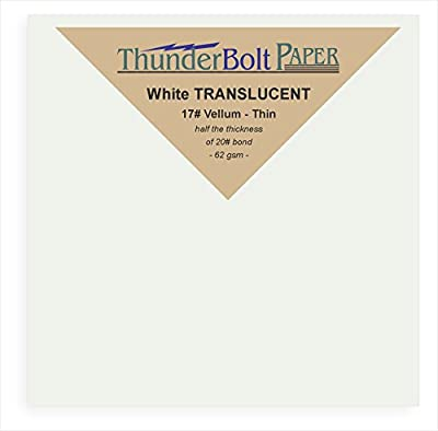 "150 Soft Off-White Translucent 17# Thin Sheets - 4"" X 4"" (4X4 Inches) Small Square Card Size - 17 lb/pound Light Weight Fine Quality Paper - Tracing, Fun or Formal Use - Not a Clear Transparent"