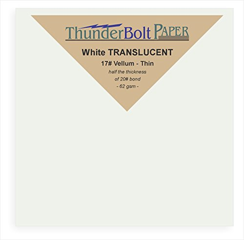 350 Soft Off-White Translucent 17# Thin Sheets - 4