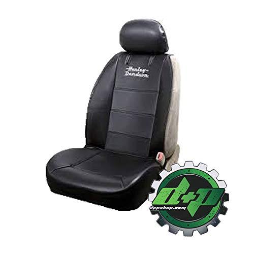Diesel Power Plus ハーレーダビッドソン ワードラップ ブラック サイドレス 刺繍シートカバー ビニール HD バイク