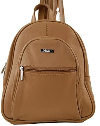 9b6a9f799e0f GENUINE LEATHER BACKPACK (3748) Tan  Amazon.co.uk  Shoes   Bags