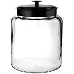 Anchor Hocking 96712 Mini Montana Jars With Black Metal Covers, 96 Ounce by Anchor Hocking