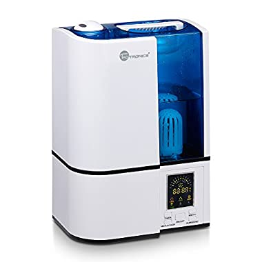 Advanced Humidifier with LED Display, TaoTronics Ultrasonic Humidifier Cool Mist with No Noise, Mist Level Control, and Timer Setting
