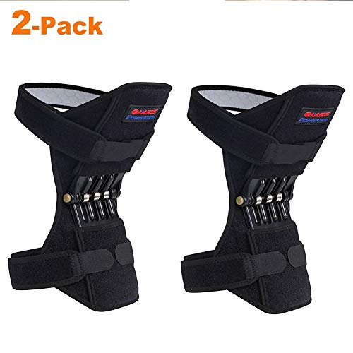 Upgraded Knee Pads Recovery Brace -2Pcs Non-Slip Pain Relief Knee Lift Leg Band - Rebound Spring Force Knee Power Enhancer Booster for Sports Hiking Climbing Training Squat Reduces Soreness