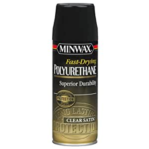 Minwax 33060000 Fast-Drying Polyurethane Aerosol, 11.5 ounce, Satin