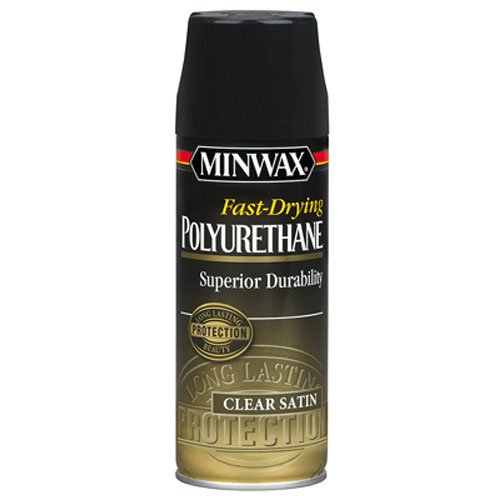 (Minwax 33060000 Fast-Drying Polyurethane Aerosol, 11.5 ounce, Satin)