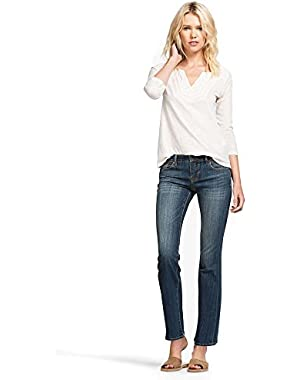 Women's Mid Rise Easy Fit Sweet N Low Bootcut Jean