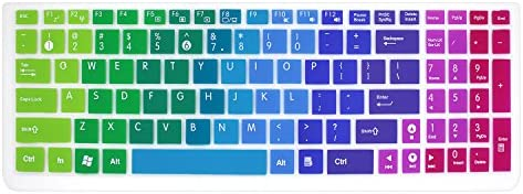 Silicone Keyboard Cover Skin for 15.6 inch ASUS GL552VW K501UX K501LX K501UW F554LA F555LA F555UA F556UA P2540UA GL502VS GL752VW UX501VW X540LA X550ZA Q503UA Q552UB X540SA R556LA N551JQ (Rainbow)