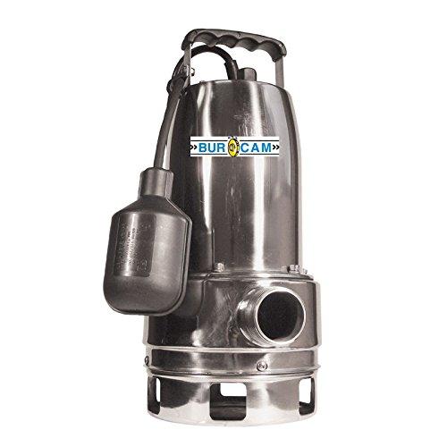 "BurCam 300527 Stainless Steel Submersible Sump Pump, 1.5""..."