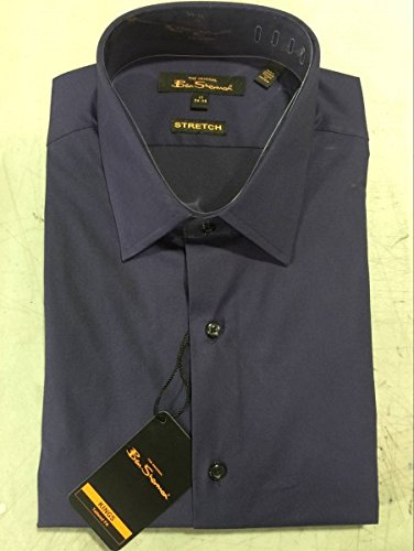 ben-sherman-mens-long-sleeve-dress-shirt-color-purple-size-165-32-33-new-with-tag