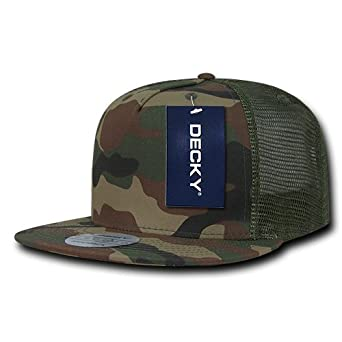 Decky 5 Panel Flat Bill Trucker - Gorra para Hombre, Color Bosque ...