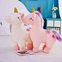 SCOOBA Super Soft Plush Glitter Horn Unicorn Toy Soft Stuffed for Kids 55 cm-Large Single Piece