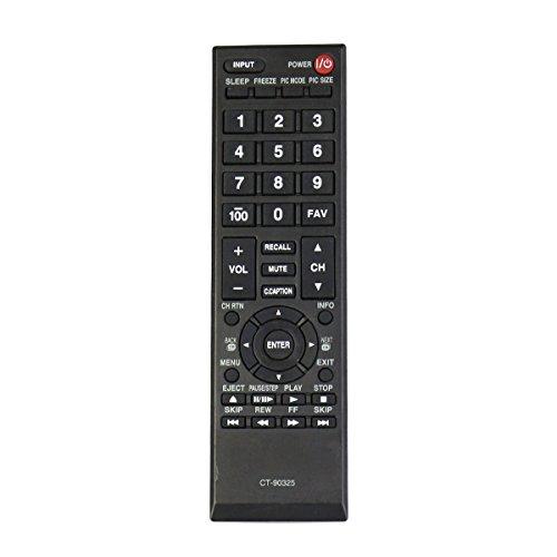 CT-90325 Replace Remote Fit for Toshiba TV 50L1400U 22AV600U 19AV600U 32E200U 37E200U 40E200UL 32DTL 32C10 32C10U 32C100 32C100U 32C100UL 32C100U2 32C100UM 32C110U 22Sl400 22Sl400U