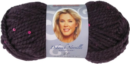 Premier Yarns 493096 Deborah Norville Collection Serenity Chunky Sequin Yarn-Purple Rain