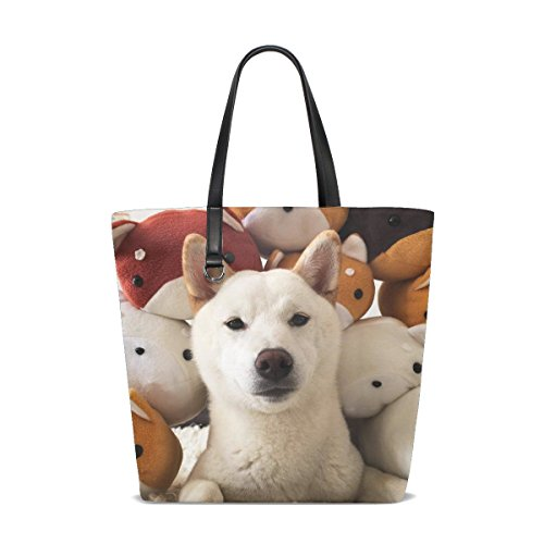 te Fluffy Puppy Adorable Real Pet Tote Bag Purse Handbag For Women Girls ()