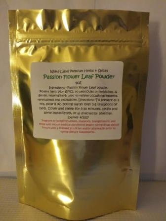 PREMIUM PASSION FLOWER LEAF POWDER- 4oz ~ White Label Premium Herbs and Spices ~ Fresh and Potent ~