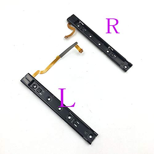 Replacement Right Left L R Slider Rail with Flex Cable Fix Part for Nintendo Switch NS NX Joy-Con Console (Left+Right)