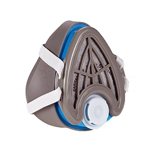 CANHEAL-Dust-Mask-Washable-and-Reusable-4-Active-Carbon-Filters-Included-Multi-Purpose-Particulate-Respirator-Small-Medium-GrayBlue