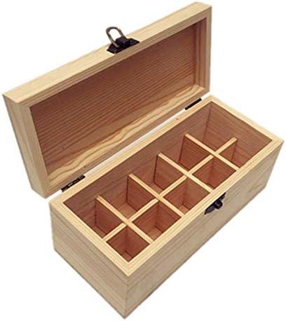 エッセンシャルオイル収納ボックス アロマ油の10個のスロット木製のエッセンシャルオイルストレージボックスオーガナイザーは21.2x9.5x9cmボトル ポータブル収納ボックス (色 : Natural, サイズ : 21.2X9.5X9CM)