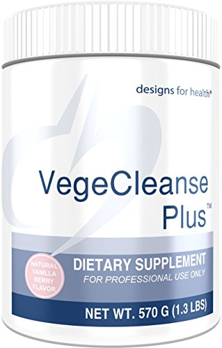 Designs for Health Pea Protein Detox with Vegetable + Fruit Blend - 17g Pea Protein VegeCleanse Plus, Berry-Vanilla Flavor (570g / 15 Servings)