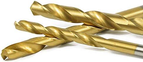 Juego de brocas en espiral titanio, 1//1,5//2//2,5//3 mm, 50 unidades