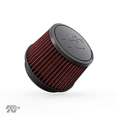 K&N Universal Clamp-On Air Filter: High Performance, Premium, Washable, Replacement Filter: Flange Diameter: 4 In, Filter Height: 3.5 In, Flange Length: 0.625 In, Shape: Round Tapered, RU-2510: Automotive
