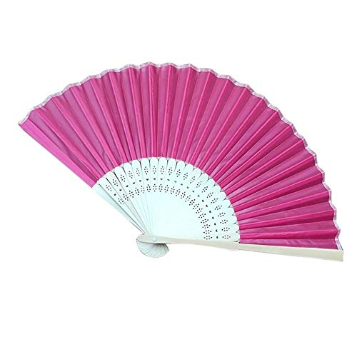 Home Decoration - Chinese Style Hand Held Fan Bamboo Silk Folding Fan Party Wedding Decor Wedding Halloween Decoration]()
