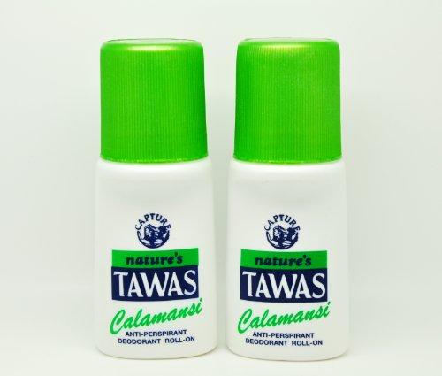 2 Natures Tawas Anti-Perspirant Deodorant Roll-on 2 x 50ml (Calamansi) Nature Anti Perspirant