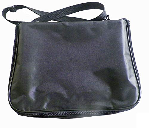 - Large Collector Lapel Pin Bag - 3 Page Black w/Black Piping