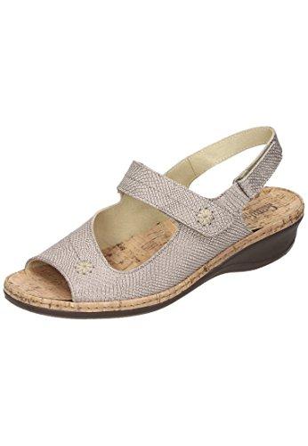 Comfortabel Damen Sandalette Gold
