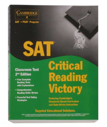 Cambridge Victory for the SAT Test: Critical Reading Classroom Textbook, 2nd Ed.