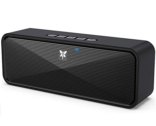 AXLOIE Portable Bluetooth Speaker, Bluetooth 5.0 Wireless Speaker with Deep Bass and Stereo Audio, 10 Hours Playtime, Support USB/TF Card/AUX Built-in Mic for Home, Outdoors, Travel, iPhone, Samsung
