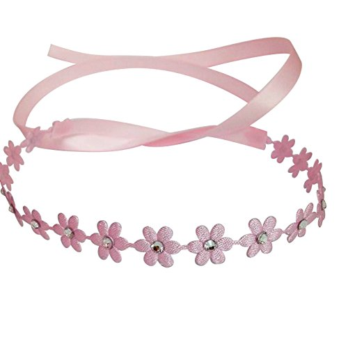 Chic Crystals Flower Wrap with Swarovski Crystals, Pink (Pink Ribbon Swarovski Crystal)