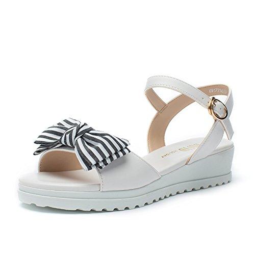 Damen Sport Casual Shoes,Student Sweet Butterfly Knot Heel Schuh,Keil Sandalen A