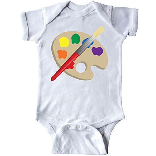 inktastic - Artist Palette and Brush Infant Creeper 6 Months White fcdc ()