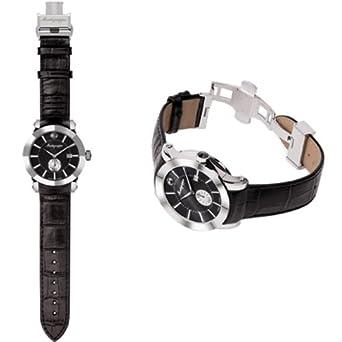 Montegrappa Nero Uno Uhr -Schweizer Quartz Uhrwerk Ronda 6004 IDNUWAIB