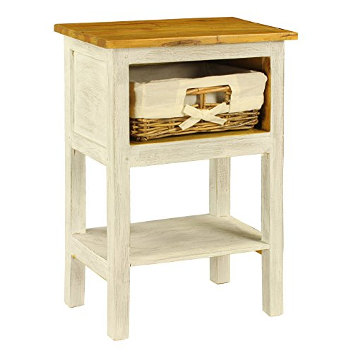 Antique Revival ICB031A WHT Bella Country Nightstand