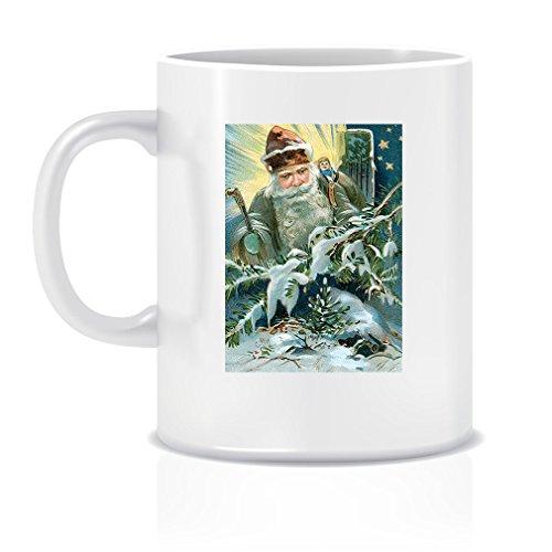 Amazon.com: Daydreaming Christmas Card Coffee Tea White Ceramic Mug ...